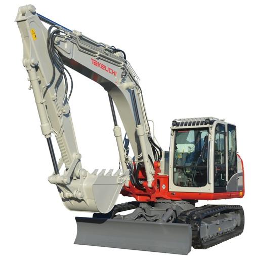 Double swing excavator